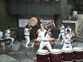 箱根駅伝と武蔵野太鼓1月3日